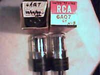 Tube 4ea 6AQ7 1NIB RCA  tstd amp radio amplifier ham