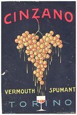 PUBBLICITA' 1919 CINZANO  VERMOUTH VINO SPUMANTE TORINO GOLIA VITE GRAPPOLO UVA