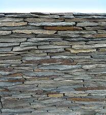 Trockenmauerstein Schiefer schwarz-braun rostig bruchrau Palette 1 to = 1000kg