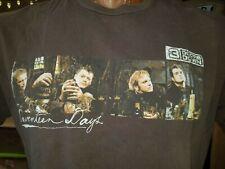 3 Doors Down Seventeen Days Tour brown XL t-shirt, American rock band from MS