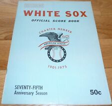 1975 CHICAGO WHITE SOX VS BOSTON RED SOX  UNSCORED SCORECARD-PROGRAM 8
