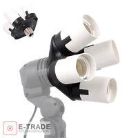 4 in 1 E27 Socket Splitter Light Lamp Bulbs Holder Adapter For Photo Softbox【EU】