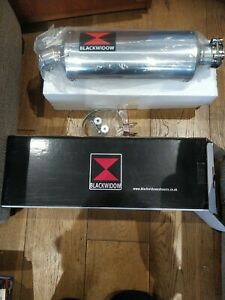 Kawasaki zzr600 Exhaust System 300mm Round Black Stainless Steel Silencer