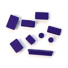 Purple 9pcs Silicone Anti Dust Plug Ports Cover Set for Laptop Macbook Pro 13 15