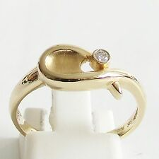 Ring Gold 375 0,045 kt. Brillant Goldringe 9 kt. Brillantringe Diamantringe