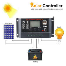 60A Solar Panel Charger Controller Battery Regulator w/USB LCD Display 12V/24V