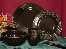 LENOX Spyro Black 4 Piece Place Setting New in Box $72