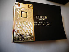Tiger boutique sensor slim touch*sensitive electronic lighter*Gold *NEW BOX #571