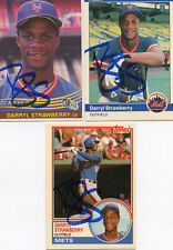 Mets Darryl Strawberry  1984 Donruss  Rookie card signed