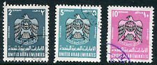 UNITED ARAB EMIRATES # 102 - 104 VF Used Issues HI VAL - COAT OF ARMS - S6279