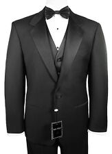 Man's Tuxedo with Flat Front Pants. Size 44 Short Jacket & 38 (Waist) Pants.