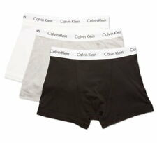 Calvin Klein Mens 100 Authentic Trunk Ck Low Rise Brief Boxer Shorts Underwear XL 95 Cotton 5 Elastane White Navy Red