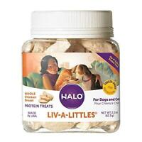 Halo Liv-A-Littles Grain Free Natural Dog and Cat Treats - 2.2 Oz Freeze Dried