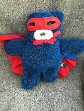 Vermont Teddy Bear Co Superhero Blue Flat Teddy
