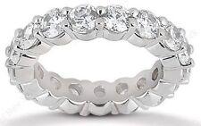 2.20 carat Round Brilliant Diamond Eternity ring Platinum Band 22 x 0.10 ct F VS