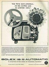 B- Publicité Advertising 1963 Le Projecteur Bolex 18.5 Automatic