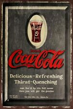 Coca-Cola grey advert Vintage Retro style Metal Sign, cafe, bar, pub, soft drink