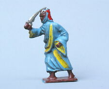 CRESCENT TOYS LEAD ARAB with SCIMITAR (FACTORY PAINTED BLUE ROBE) ~ OLD STOCK