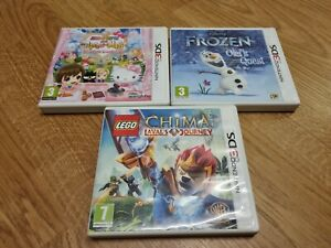 Frozen Olaf's Quest, hello kitty , lego chima games x3  Nintendo 3DS Games