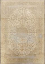 Antique Floral Muted Ardakan Floral Area Rug Distressed Hand-Knotted Wool 7'x10'