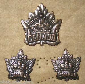 Canada General Service WWI Cap and Collar Badge Set (Repro)