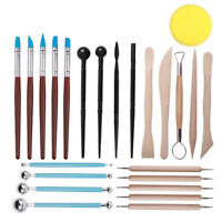 24pcs Polymer Molded Impression Silicone Pen Clay Sculpting Painting Tools Set