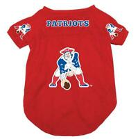NEW NEW ENGLAND PATRIOTS PET DOG FOOTBALL JERSEY THROWBACK RETRO ALL SIZES RED