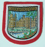 VINTAGE CAERNARFON CASTLE UK EMBROIDERED SOUVENIR PATCH WOVEN CLOTH SEW-ON BADGE