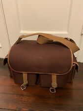 Rare Vintage Domke Shoulder Bag - Tan With Brown Leather Trim With Insert