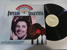 """IMPERIO ARGENTINA ANTOLOGIA DE LA CANCION ESPAÑOLA 1986 - LP VINILO 12"""" VG/VG"""