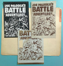 HARVEY ARCHIVES: cover proofs 1952 Joe Palooka's Battle Adventures 74 Korean War