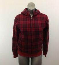 Aeropostale Hoodie Women's XS Red Plaid Long sleeve Full Zip Hooded Jacket