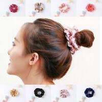 100% Pure Mulberry Silk Hair Scrunchie Charmeuse Women Hair Accessories 8 Colors