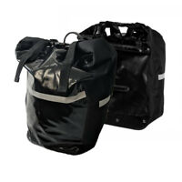 Velobici 100% Waterproof Bicycle Pannier Bag Set of 2 with Handle