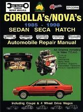 Toyota Corolla/Nova 1985-98 Auto Repair Manual-