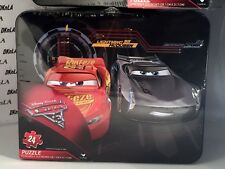 Disney Pixar Cars 3 - 24 Piece puzzle in old school metal lunch box  Ages 3 & up