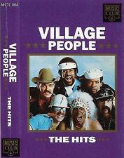 Village People The Hits CASSETTE ALBUM Electronic Disco