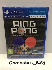 PING PONG VR PS4 PAL - TABLE TENNIS - VIDEOGIOCO NUOVO SIGILLATO NEW SEALED