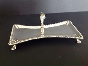 ANTIQUE GEORGIAN SILVER CANDLE SNUFFER TRAY  1774