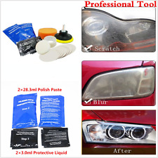14PCS CAR HEADLIGHT CLEANER RESTORER HEADLIGHT LENS RESTORATION POLISHING TOOL
