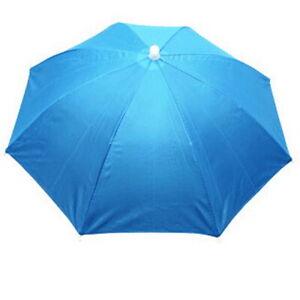 Outdoor Foldable Head Umbrella Hat Golf Fishing Camping Headwear Elasticity Cap