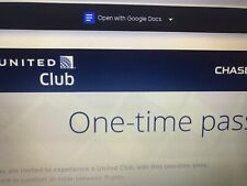 Two united club one-time pass Expire July 2021