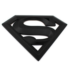 3D Superman Logo Matt Schwarz Emblem Badge mit Kleberückseite Aufkleber RS ST