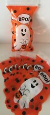 6 x HALLOWEEN Spooky Ghost TREAT GOODIE ZIPPER BAGS Sweet Trick or Treat cookie