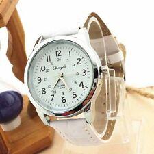 Ladies Silver Gerryda Quartz White Face White Band Wrist Watch.(Aussie Seller)