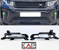 1 Pair Front Fog Lights Lamps DRL Left & Right  Fit: Range Rover Evoque 2016-19