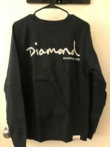 Diamond Supply Co. Navy Script Logo Crewneck Sweatshirt, Sz Small, NWT!