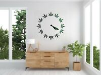 Green 420 Pot Leaf Clock Decal Vinyl Wall Decal Car Decal 11x11 Wall Accent Sale