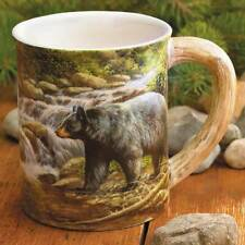 Sculpted Mug SHADOW OF THE FOREST - BLACK BEAR by Rosemary Millette