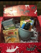 Cozy Tea Gift Basket Care Package - Xl mug- hot or cold tea option-honey-cookies